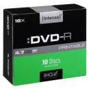 Intenso DVD-R, 4801652, 100-pack, 4.7GB, 16x, 12cm, Standard, slim case