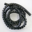 Svazkovací spirála, 15-50mm, černá, 2m, (15mm pr.), Logo