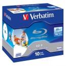 Verbatim BD-R, Single Layer Printable ScratchGuard Plus, 25GB, jewel box, 43713, 6x, 10-pack, pro archivaci dat