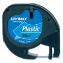 Dymo originální páska do tiskárny štítků, Dymo, 59426, S0721600, černý tisk/modrý podklad, 4m, 12mm, LetraTag plastová páska