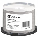 Verbatim CD-R, 43781, Thermal Printable, 50-pack, 700MB, 52X, spindle