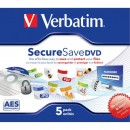 Verbatim DVD-R, 43706, SecureSave, 5-pack, 4.5GB, 16x, 12cm, General, Standard, jewel box, bez možnosti potisku