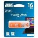 Goodram USB flash disk, 2.0, 16GB, UFR2, oranžový, UFR2-0160O0R11