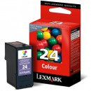 Lexmark originální ink 18C1524E, #24, color, return, Lexmark Z1420, X4530