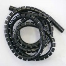 Svazkovací spirála, 15-50mm, černá, 50m, (15mm pr.), Logo