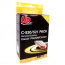 UPrint kompatibilní ink s CLI521, 2xblack/ 1xcyan/ 1xmagenta/ 1xyellow, C-520/521 PACK, pro Canon iP3600, iP4600, MP620, MP630, MP980