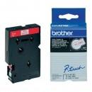 Brother originální páska do tiskárny štítků, Brother, TC-292, červený tisk/bílý podklad, laminovaná, 7.7m, 9mm