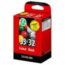 Lexmark originální ink 80D2951, #32+33, black/color, Lexmark Z815, Z816, Z818, X5250, 5260, P915, P6250