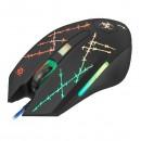 Defender Myš Forced GM-020L, 3200DPI, optická, 6tl., 1 kolečko, drátová USB, černá, s herní podložkou