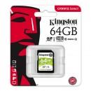 Kingston paměťová karta Canvas Select, 64GB, SDHC, SDS/64GB, UHS-I U1 (Class 10)