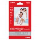 """Canon foto papír, lesklý, bílý, 10x15cm, 4x6"""", 210 g/m2, 100 ks, GP-501, inkoustový tisk"""