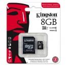 Kingston Micro Secure Digital card, 8GB, micro SDHC, SDCIT/8GB, UHS-I U1 (Class 10), s adaptérem