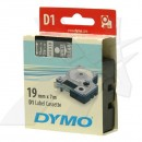 Dymo originální páska do tiskárny štítků, Dymo, 45810, S0720900, bílý tisk/průhledný podklad, 7m, 19mm, D1