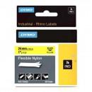 Dymo originální páska do tiskárny štítků, Dymo, 1734525, S0773850, černý tisk/žlutý podklad, 3.5m, 24mm, RHINO nylonová flexibilní