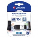 Verbatim USB flash disk, 2.0, 16GB, Nano Store ,N, Stay, s adaptérem Micro USB, černý, 49821