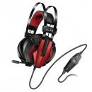 Genius HS-G710V, herní sluchátka s mikrofonem, ovládání hlasitosti, černá/červená, 3.5 mm jack