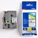 Brother originální páska do tiskárny štítků, Brother, TZE-251, černý tisk/bílý podklad, laminovaná, 8m, 24mm