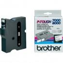 Brother originální páska do tiskárny štítků, Brother, TX-241, černý tisk/bílý podklad, laminovaná, 8m, 18mm