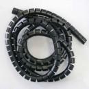 Svazkovací spirála, 15-50mm, černá, 10m, (15mm pr.), Logo