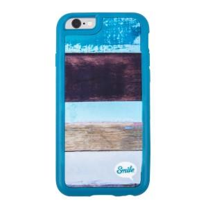 Kryt na iPhone 5/5S/5SE, modrý, TPU, Wood Spirit Paint, Smile