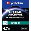 Verbatim DVD-R, M-Disc, 3-pack, 4.7GB, 4x, 12cm, General, Standard, slim box