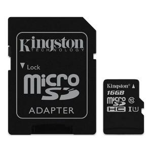 Kingston paměťová karta Canvas Select, 16GB, micro SDHC, SDCS/16GB, UHS-I U1 (Class 10), s adaptérem