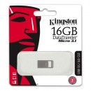 Kingston USB flash disk, 3.1, 16GB, DataTraveler Micro, stříbrný, DTMC3/16GB