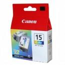 Canon originální ink BCI15C, color, 100str., 8191A002, 2ks, Canon i70