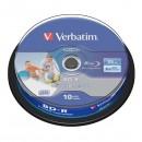 Verbatim BD-R SL, Hard Coat protective layer, 25GB, Pack Spindle, 43804, 6x, 10-pack, pro archivaci dat