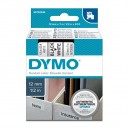 Dymo originální páska do tiskárny štítků, Dymo, 45013, S0720530, černý tisk/bílý podklad, 7m, 12mm, D1