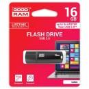 Goodram USB flash disk, 3.0, 16GB, UMM3, černý, UMM3-0160K0R11, podpora OS Win 7