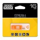Goodram USB flash disk, 2.0, 16GB, Gooddrive Fresh Orange, oranžový, PD16GH2GRFOR9, podpora OS Win 7, nové papírové balení
