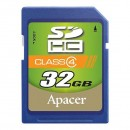 Apacer paměťová karta Secure Digital, 32GB, SDHC, AP32GSDHC4-R, Class 4