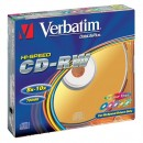 Verbatim 43167, DataLife PLUS, 5-pack, 700 Serl, 8-12x, 80min., CD-RW, 12cm, Color, bez možnosti potisku, slim box, Color, pro arc