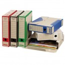 Box archivační, A4, 75mm, černý, Emba, cena za 1ks, baleno po 25ks