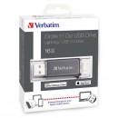 Verbatim USB flash disk OTG, 3.0/Lightning, 16GB, iStore,N,Go Lightning, černý, 49304