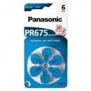 Baterie zinkovzdušná, PR675, 1.4V, Panasonic, blistr, 6-pack, cena za 1 ks baterie, do naslouchadel