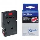 Brother originální páska do tiskárny štítků, Brother, TC-491, černý tisk/červený podklad, laminovaná, 7.7m, 9mm