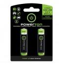 Baterie Ni-MH, AAA nabíjecí, 1.2V, 900 mAh, Powerton, blistr, 2-pack, cena za 1 ks