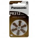 Baterie zinkovzdušná, PR41, 1.4V, Panasonic, blistr, 6-pack, cena za 1 ks baterie, do naslouchadel