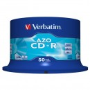 Verbatim 43343, DataLife PLUS, 50-pack, 700 Super Azo, 52x, 80min., CD-R, 12cm, Crystal, bez možnosti potisku, cake box, Standard