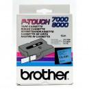 Brother originální páska do tiskárny štítků, Brother, TX-551, černý tisk/modrý podklad, laminovaná, 8m, 24mm