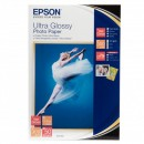 "Epson Ultra Glossy Photo Paper, foto papír, lesklý, bílý, R200, R300, R800, RX425, RX500, 10x15cm, 4x6"", 300 g/m2, 50 ks, C13S0419"
