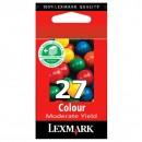Lexmark originální ink 10NX227E, #27+, color, 160str., Lexmark Z13, Z23, Z33, Z25, Z35