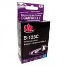 UPrint kompatibilní ink s LC-123C, cyan, 600str., 10ml, B-123C, pro Brother MFC-J4510 DW