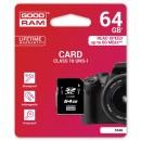 Goodram Secure Digital Card, 64GB, SDXC, S1A0-0640R12, UHS-I U1 (Class 10)