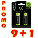 Baterie Ni-MH, AA nabíjecí, 1.2V, 2500mAh, Powerton, box, 10x2-pack, PROMO 2-pack 9+1 ZDARMA (18+2 ks ZDARMA), cena za 1 ks