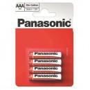 Baterie zinkouhlíková, AAA, 1.5V, Panasonic, blistr, 4-pack, cena za 1 ks baterie