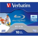 Verbatim BD-R, Dual Layer Printable, 50GB, jewel box, 43736, 6x, pro archivaci dat