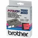 Brother originální páska do tiskárny štítků, Brother, TX-451, černý tisk/modrý podklad, laminovaná, 8m, 24mm